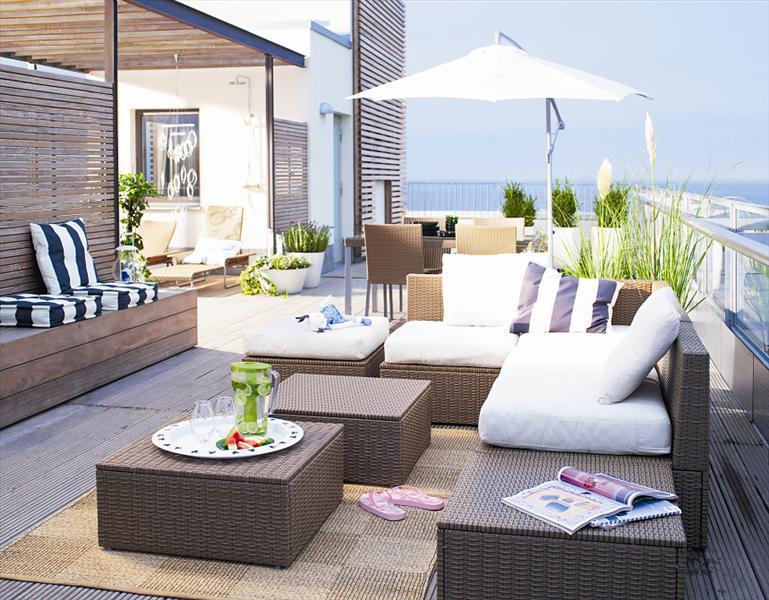 Balkon m bel balkon mit ikea dekorieren und einrichten for Salon de jardin ikea